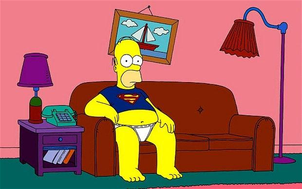 Un sondage a révélé des émissions de télévision comme The Simpsons - célèbre pour la patate de canapé Dad Homer Simpson - pourrait faire croire aux enfants que les papas sont paresseux
