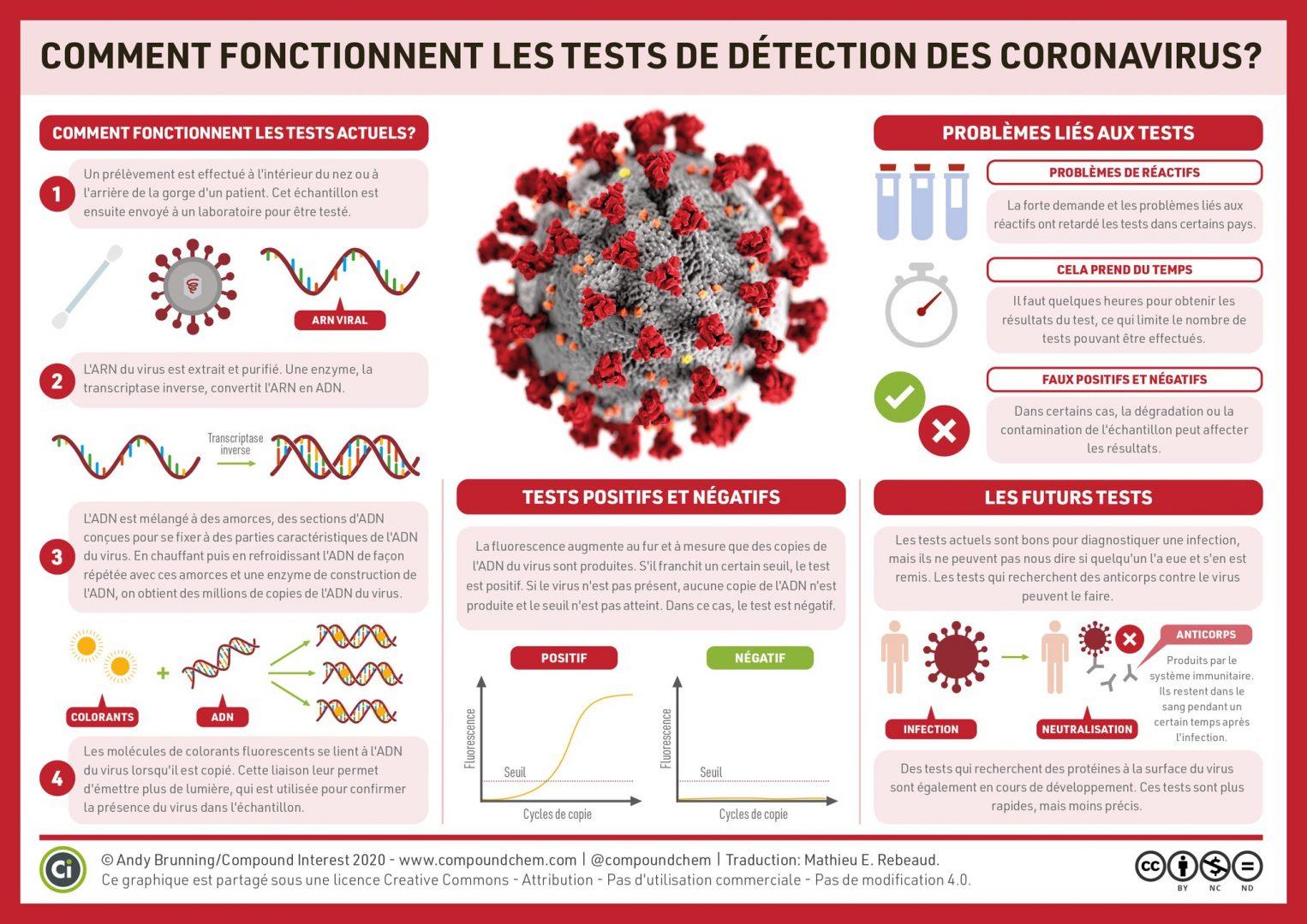 Schéma Infographie Tests virus Covid19